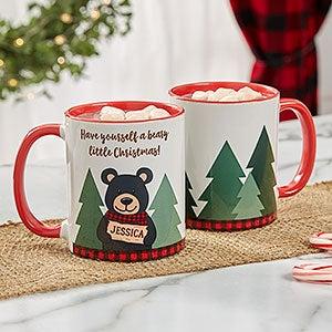 Personalized Christmas Mug - Holiday Bear - 21263