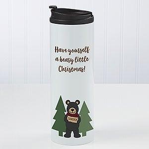 Personalized Travel Tumbler - Holiday Bear Family - 21265