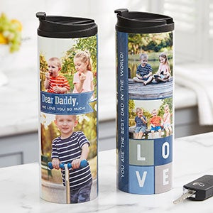 Dear Dad Personalized Photo Travel Tumbler - 21272