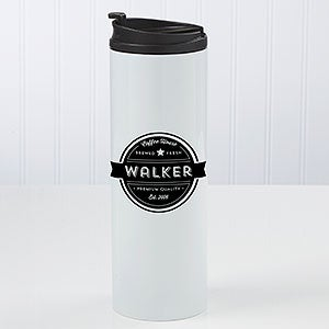 Coffee House Personalized Travel Tumbler - 21294