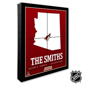 Arizona Coyotes Personalized NHL Wall Art - 21305