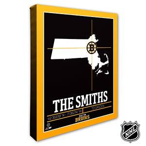 Boston Bruins Personalized NHL Wall Art - 21306