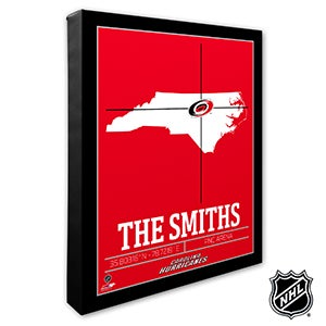 Carolina Hurricanes Personalized NHL Wall Art - 21309
