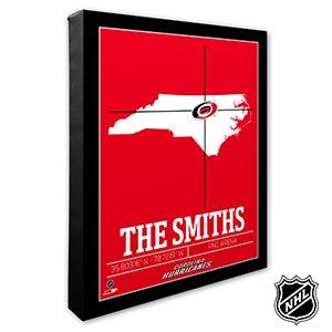 Carolina Hurricanes Personalized NHL Wall Art - 21309