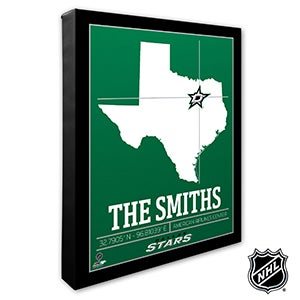 Dallas Stars Personalized NHL Wall Art - 21313
