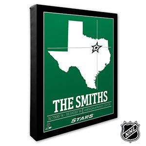 Dallas Stars Personalized NHL Wall Art - 21313