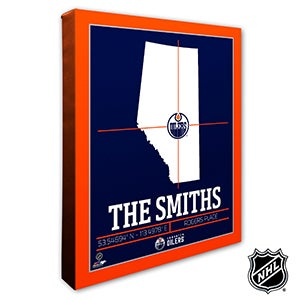 Edmonton Oilers Personalized NHL Wall Art - 21315