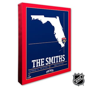 Florida Panthers Personalized NHL Wall Art - 21316