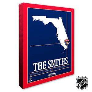 Florida Panthers Personalized NHL Wall Art - 21316