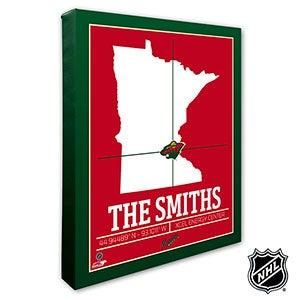 Minnesota Wild Personalized NHL Wall Art - 21318