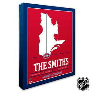 Montreal Canadiens Personalized NHL Wall Art - 21319