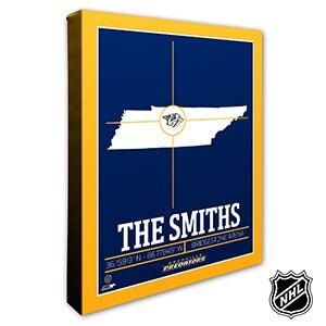 Nashville Predators Personalized NHL Wall Art - 21320