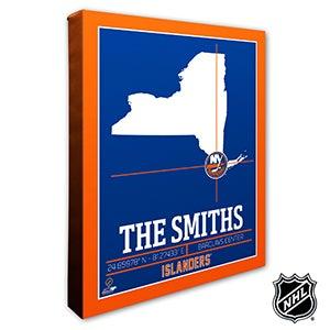 New York Islanders Personalized NHL Wall Art - 21322