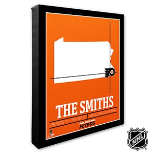 Philadelphia Flyers Personalized NHL Wall Art - 21325