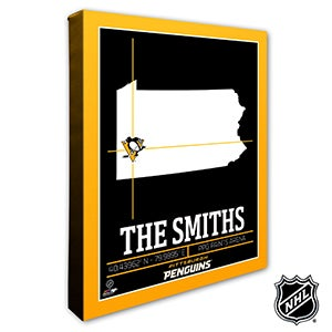 Pittsburgh Penguins Personalized NHL Wall Art - 21326