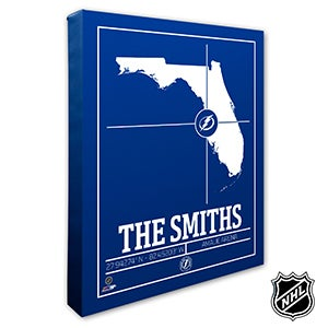 Tampa Bay Lightning Personalized NHL Wall Art - 21330