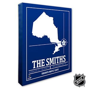 Toronto Maple Leafs Personalized NHL Wall Art - 21331