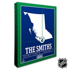 Vancouver Canucks Personalized NHL Wall Art - 21332
