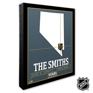 Vegas Golden Knights Personalized NHL Wall Art - 21333