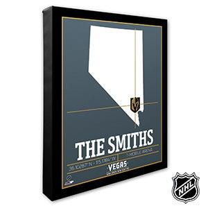 Vegas Golden Knights Personalized NHL Wall Art - 21333