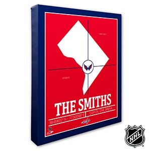 Washington Capitals Personalized NHL Wall Art - 21334