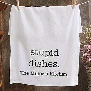 Personalized Flour Sack Towels - Kitchen Expressions - 21364