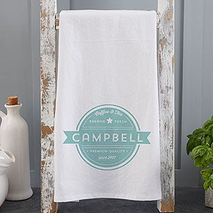 Coffee House Personalized Tea Towels - 21366