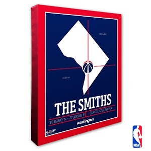 Washington Wizards Personalized NBA Wall Art - 21415
