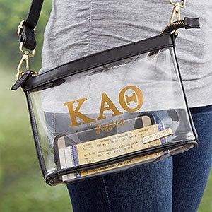 0 Kappa Alpha Theta Personalized Clear Stadium Purse (21447) photo