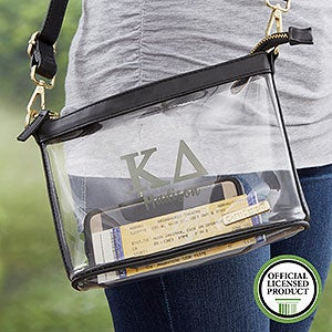 Kappa Delta Personalized Clear Stadium Purse - 21448