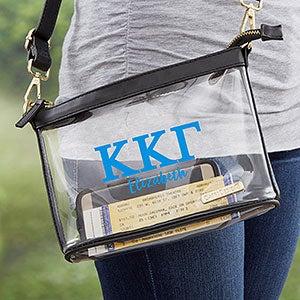 0 Kappa Kappa Gamma Personalized Clear Stadium Purse (21449) photo
