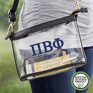 Pi Beta Phi Personalized Clear Stadium Purse - 21450
