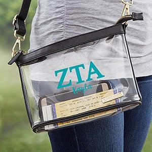 0 Zeta Tau Alpha Personalized Clear Stadium Purse (21451) photo