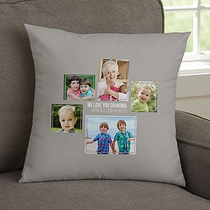 for her 5 photo collage personalized small throw pillow for her