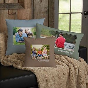 Personalized Photo Throw Pillows For Dad - 21458