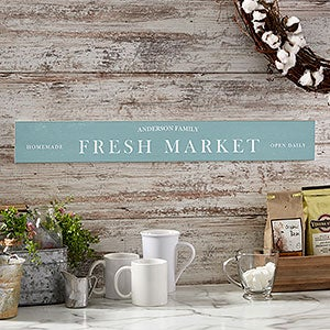 Personalized Kitchen Sign - Family Market - 21539