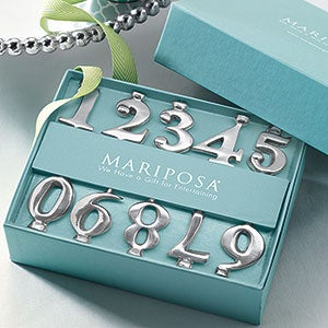 Number Candle Holder Set By Mariposa - 21580
