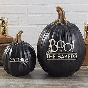 BOO! Personalized Pumpkins - Reusable Halloween Decoration - 21607