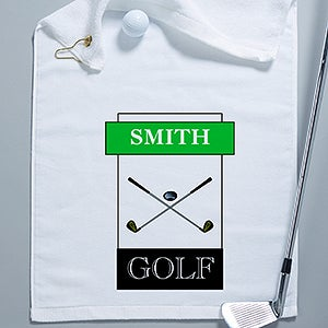Personalized Golf Towel - You Name it Design - 2163