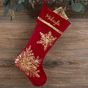 Gold Christmas Stocking Personalized Christmas Stocking Sparkle Stocking Personalized White and Gold Christmas Stocking
