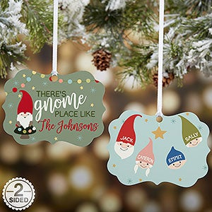 add up to 6 gnome family characters and your own text this adorable gnome christmas ornament makes a great family gift - Gnome Christmas Decorations
