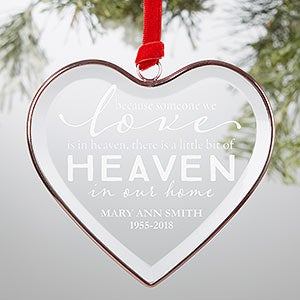 Personalized Glass Heart Memorial Ornament - 21690