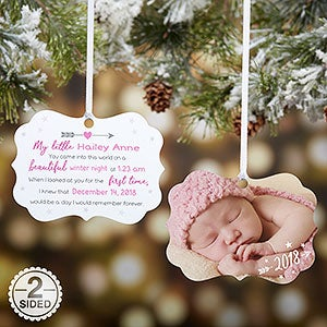 Baby Photo Ornament - Baby's Birth Story - 21696