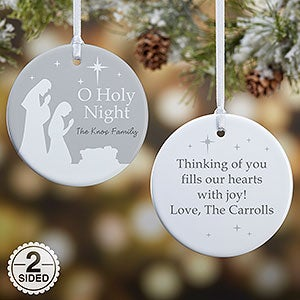 Personalized Christmas Ornaments - O Holy Night - 21709