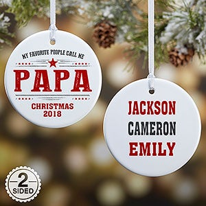 Personalized Ornaments - My Favorite People - 21711