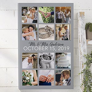 wedding photo collage 12x18 personalized canvas print wedding gifts