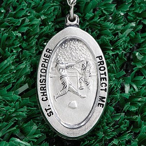 Personalization Mall Personalized St. Christopher Sterling Silver Sports Medal - Boys Baseball at Sears.com