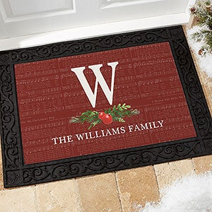 Nostalgic Noel Personalized Christmas Doormats - 21865