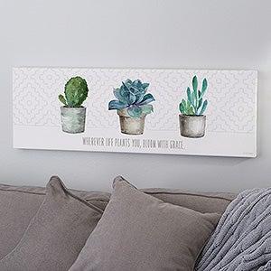 Succulents & Cactus Personalized Canvas Prints - 21879