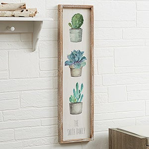 Personalized Succulents & Cactus Wall Art - 21881